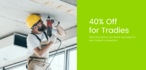 40% off for Tradies